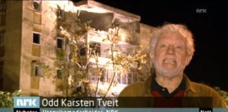 Odd Karsten Tveit rapporterer på NRK 15. november 2012. (Skjermdump NRK)