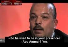 Muhammed Al-Daya, som var livvakt for Yasser Arafat i mange år, forteller om sjefens forhold til sannheten på BBC. (Skjermdump fra BBC, via Memri)