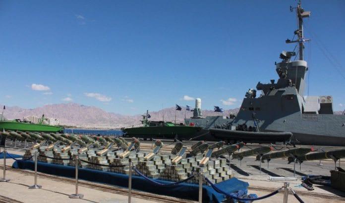 I mars stanset den israelske marinen en større leveranse av iranske raketter og våpen på vei til terrorgrupper på Gaza-stripen. (Foto: IDF)