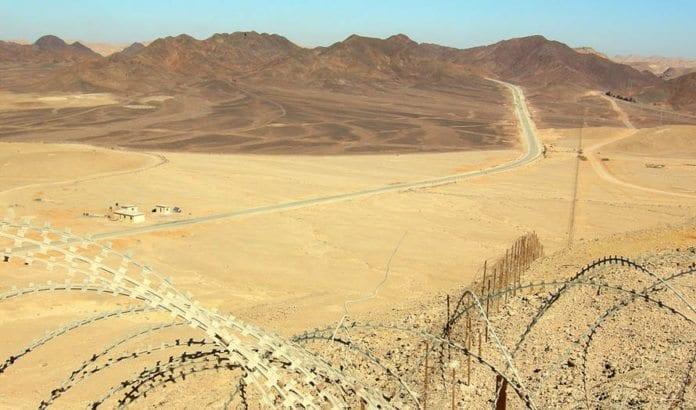 Grenseområdet mellom Israel og Egypt på Sinai-halvøya. (Illustrasjonsfoto: Wikimedia Commons)