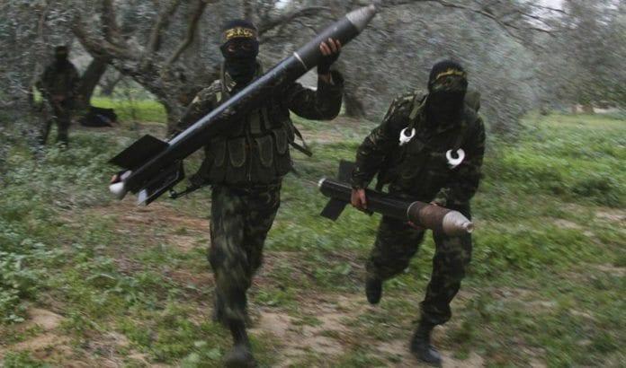 Terrorister fra Islamsk Jihad på Gaza i aksjon. (Illustrasjonsfoto: CC BY-SA Amir Farshad Ebrahimi / Flickr.com.)