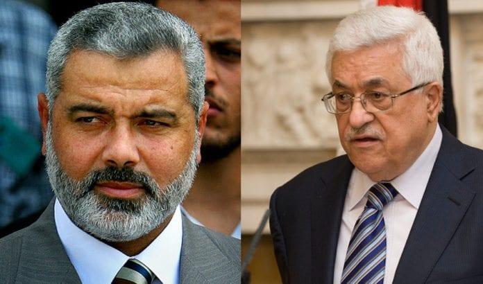 Hamas-leder Ismail Haniyeh og PA-leder Mahmoud Abbas vil danne palestinsk samlingsregjering. Foto: IDF og UK Cabinette of state / Flickr.com.