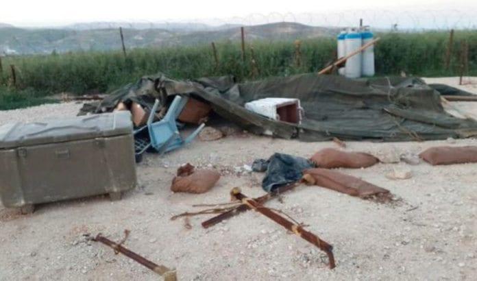 Stedet der en av de destruerte eiendommene sto i Yitzhar. Foto: IDF.