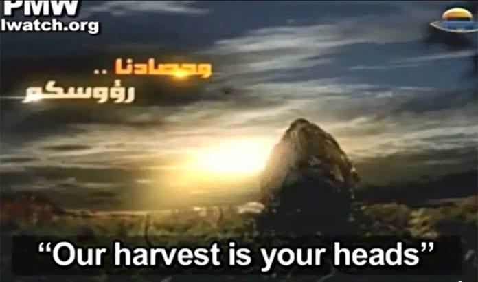 En video som hyller drap på israelske soldater ble sendt på Hamas sin tv-kanal samme dag som de inngikk avtale om å gå i palestinsk samlingsregjering med Fatah. (Foto: Skjermdump fra PMW / YouTube.)