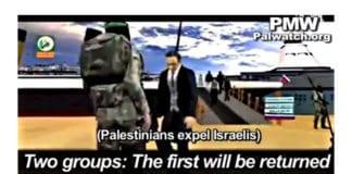 Skjermdump fra propagandavideoen til Hamas.