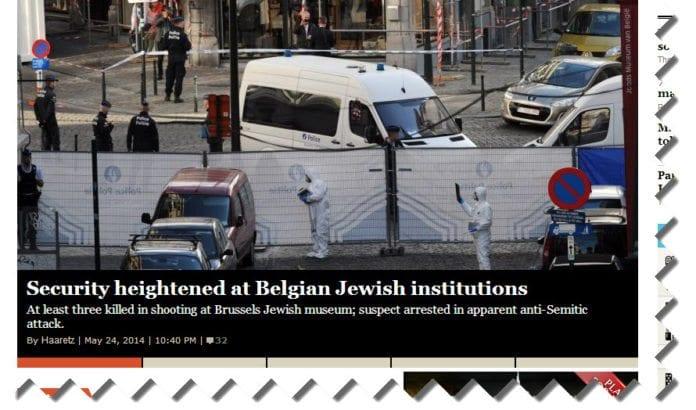 Skjermdump fra Haaretz.com.