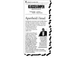 Faksmile av Klassekampens lederartikkel 18. november 1998.