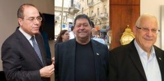 Fra venstre: Silvan Shalom, Benjamin Ben-Eliezer og Reuven Rivlin. (Foto: Creative Commons / Flickr.com.)