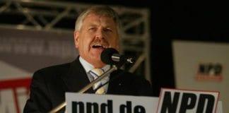Den nynazistiske politikeren Udo Voigt ble valgt inn til Europaparlamentet for Tyskland. (Foto: Wikimedia Commons.)