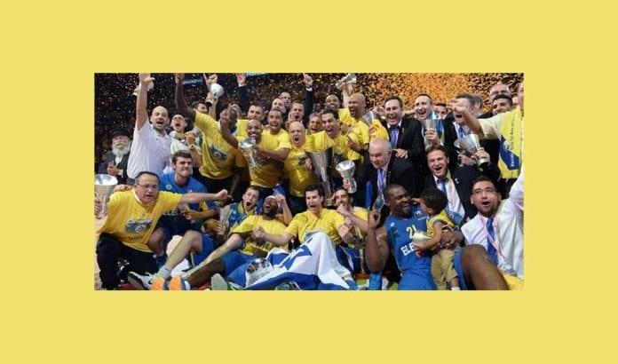 Maccabi Electra Tel Aviv vant Euroleague i basketball søndag 18. mai 2014. (Foto: Nettsiden til Euroleague)
