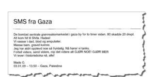 Faksmile av Utdanningsdirektoratets gjengivelse av Mads Gilberts SMS.