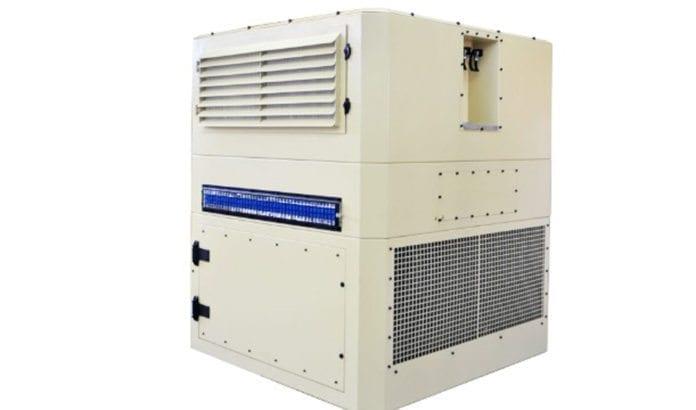 Denne maskinen lager drikkevann av luft. (Foto: Water-Gen.)