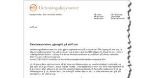 Faksmile av hele brevet fra Utdanningsdirektoratet mottatt 4. juni 2014.