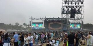 God stemning på konsert med Rolling Stones i Tel Aviv onsdag. (Foto: Geir Knutsen.)