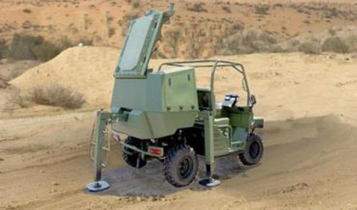 Slik ser det nye, mobile rakettforsvarssystemet Wind Shield ut. (Foto: Israel Aerospace Industries.)