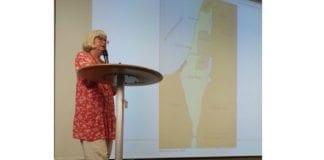 Annelie Enochson, medlem av den svenske Riksdagen, holder foredrag på MIFFs landsmøte 15. juni 2014. (Foto: Conrad Myrland, MIFF)