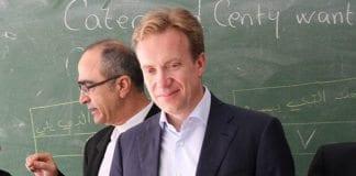 Utenriksminister Børge Brende i Beirut 30. mai 2014. (Foto: Frode Overland Andersen/UD)