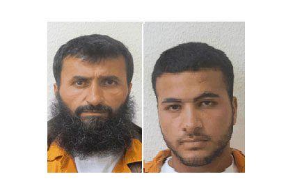 Ziad Awad og sønnen Izz Eddin Hassan Ziad Awad er tiltalt for drapet på den israelske fembarnsfaren Baruch Mizrahi 14. april. (Foto: Shin Bet)