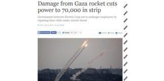 Skjermdump fra Times of Israel 13. juli 2014.