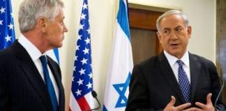 Statsminister Benjamin Netanyahu i en felles pressekonferanse med USAs forsvarsminister Chuck Hagel i Jerusalem i mai 2014. (Foto: Erin A. Kirk-Cuomo)