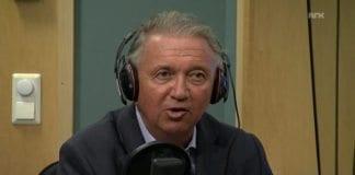 Terje Rød-Larsen på Dagsnytt Atten 16. juli 2014. (Skjermdump fra NRK)