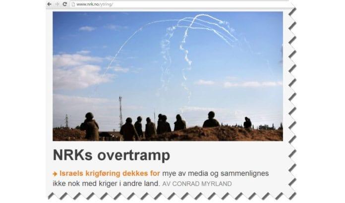 I en artikkel på NRK Ytring påpeker MIFF hva som er feil med NRKs Midtøsten-dekning. (Skjermdump fra Nrk.no.)