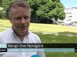 Bengt-Ove Nordgård, nestleder i MIFFs hovedstyre, på NRK Dagsrevyen 19. juli 2014. (Skjermdump fra NRK)