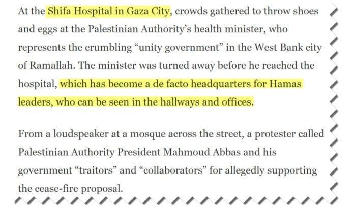 Skjermdump fra artikkel i Washington Post 15. juli 2014.