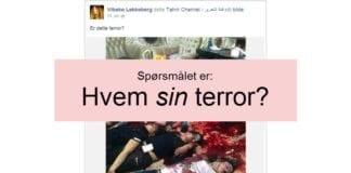 Har Vibeke Løkkeberg grunnlag for å kritisere Israel for denne terroren, når bildet også er publisert i Irak med anklager mot shia-myndighetene?