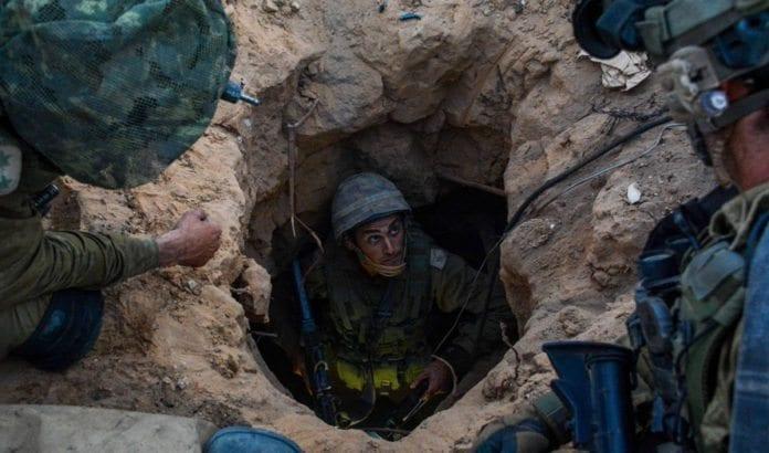 Her avdekker det israelske forsvaret en av Hamas' terrortunneler under Gaza-krigen 2014. (Illustrasjonsfoto: IDF / Flickr.com)