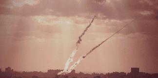 Rakettangrep fra Gaza. (Foto: IDF)