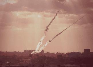Rakettangrep fra Gaza mot Israel. (Illustrasjonsfoto: IDF)