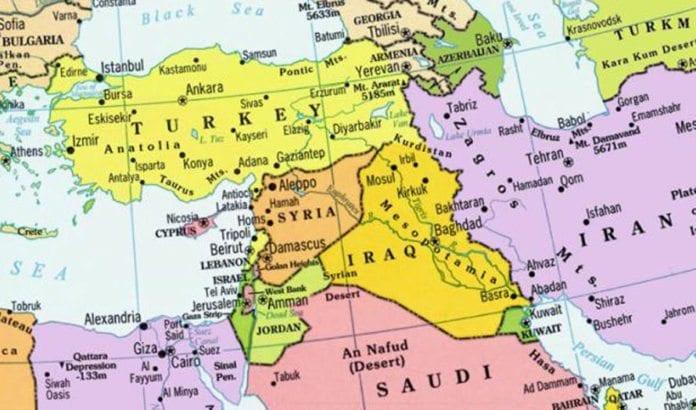 Kartet over Midtøsten kan bli forandret de kommende årene, men ikke uten langvarig kaos først, mener Ron Ben-Yishai. (Kartillustrasjon: Wikimaps)