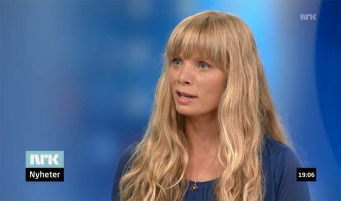 Marthe Heian-Engdal ble brukt som Midtøsten-ekspert av NRK på Dagsrevyen tirsdag 8. juli. (Foto: Skjermdump fra NRK)
