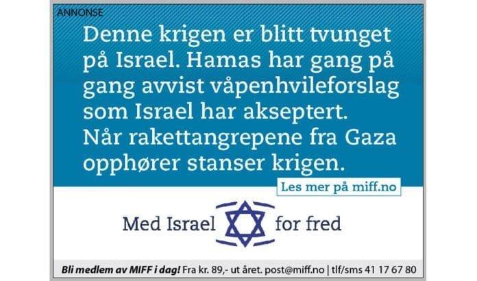 Denne MIFF-annonsen kommer i Adresseavisen, Aftenposten, Bergens Tidende, Fædrelandsvennen og Stavanger Aftenblad fredag 1. august 2014.