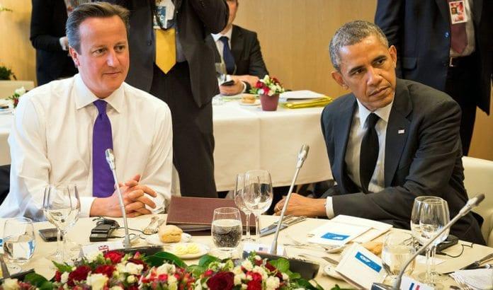 Storbritannias statsminister David Cameron og USAs president Barack Obama gir full støtte til Israels aksjon for å få stans på rakettangrepene. (Foto: Number 10, flickr.com)