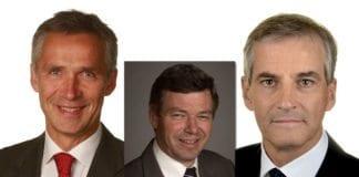 Jens Stoltenberg, Kjell Magne Bondevik og Jonas Gahr Støre har gitt grønt lys til norske militæroperasjoner som har kostet tusenvis av mennesker livet. Dømmer man Israel etter strenge regler, vil også norske ledere og offiserer bli kriminalisert. (Foto: Stortinget)