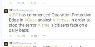 Det israelske forsvaret kunngjorde i natt på Twitter at de starter en stor operasjon for å bekjempe terroren fra Gaza. (Foto: Skjermdump fra Twitter)