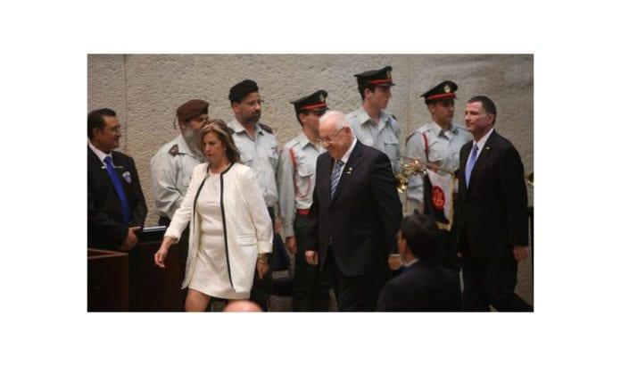 Reuven Rivlin under presidentinnsettelsen torsdag. (Foto: Knesset)