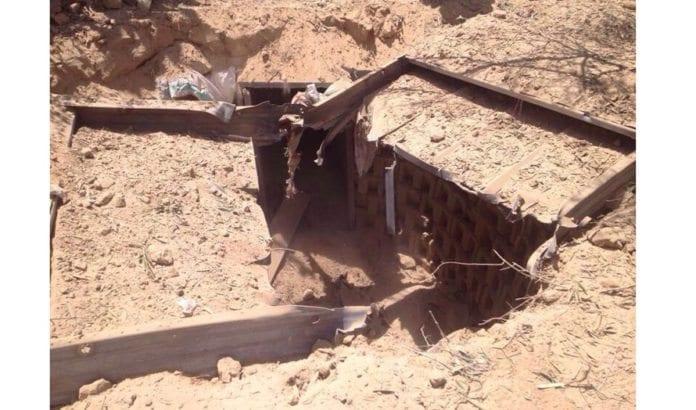 En terror-tunnel avdekket av IDF under operasjon Skarp Beskyttelse juli 2014. (Foto: IDF)