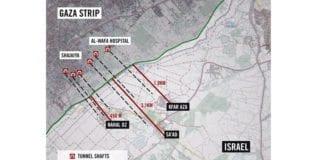 Grafikken viser noen av de avdekkede terrortunnelene mellom Gaza og Israel. (Illustrasjon: IDF)