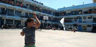 En av UNRWAs skoler i Gaza. (Illustrasjonsfoto: UNRWA)