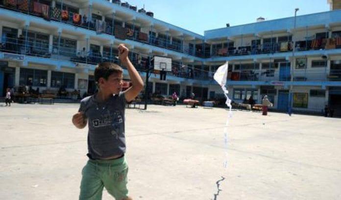 En av UNRWAs skoler i Gaza, som nå brukes som tilfluktssted for flyktninger. (Illustrasjonsfoto: UNRWA)