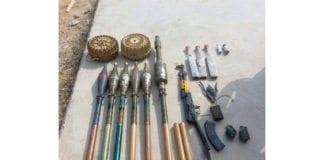 IDF har beslaglagt blant annet disse Hamas-våpen etter en trefning for noen dager siden. (Foto: IDF)