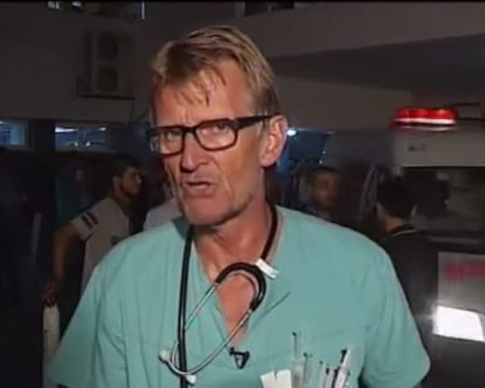 Mads Gilbert i intervju med Al Arabiya. (Skjermdump fra YouTube)