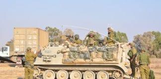 Mannskaper fra IDF ved grensen til Gaza. (Illustrasjonsfoto: IDF)