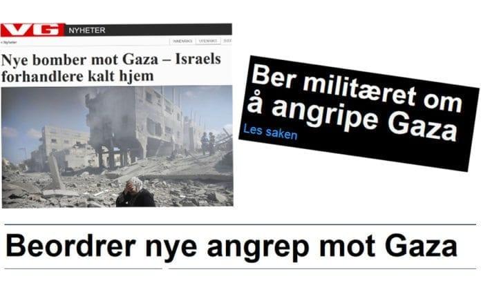 Skjermdump fra VG (til venstre), NRK (til høyre) og Nettavisen (nede) tirsdag ettermiddag. Hvor ble det av Hamas?