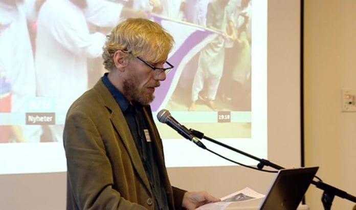 Forfatter og journalist Bjørn Gabrielsen. (Foto: Skjermdump fra NRK)