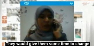 """Hamas' talskvinne forteller på libanesisk TV hvordan de presset utenlandske journalister til å vinkle sakene sine """"riktig"""". (Foto: Skjermdump fra MemriTV / YouTube)"""