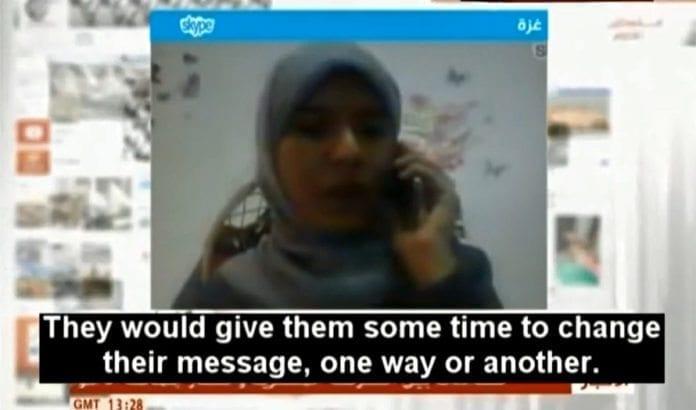 Hamas' talskvinne forteller på libanesisk TV hvordan de presset utenlandske journalister til å vinkle sakene sine